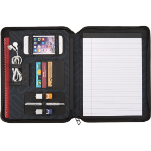 "elleven™ 13"" Zippered Padfolio"