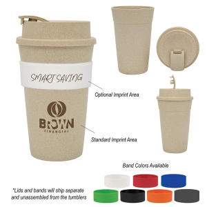 16 Oz. Wheat Travel Tumbler